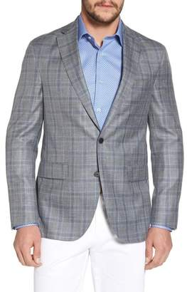 David Donahue Arnold Classic Fit Plaid Wool Blend Sport Coat