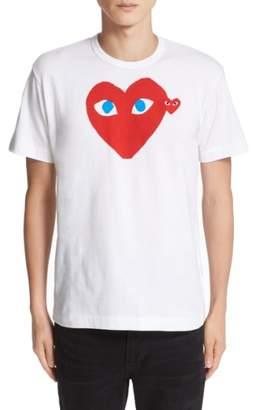 Comme des Garcons Heart Face Graphic T-Shirt