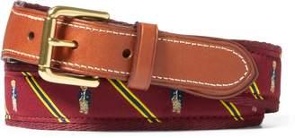 Ralph Lauren Polo Bear-Overlay Webbed Belt