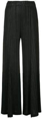 Pleats Please Issey Miyake pleated palazzo trousers