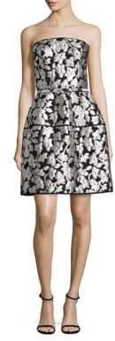 Oscar de la Renta Floral Strapless Dress