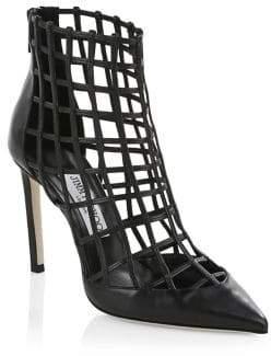 Jimmy Choo Sheldon Leather Cage Heels