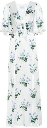 Les Rêveries Floral silk-satin maxi dress