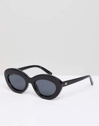 Le Specs Fluxus Cat Eye Sunglasses In Black