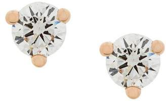 Delfina Delettrez 18kt gold Dots Solitaire diamond earrings