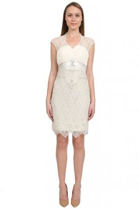 Sue Wong - Pleated Chiffon Bodice Dress in Ivory Cocktail Dress $581 thestylecure.com