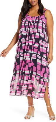 Nic+Zoe Block Party Print Pleat Shift Dress