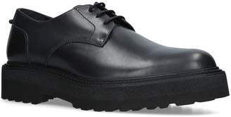 Neil Barrett Leather Punk Derby Shoes