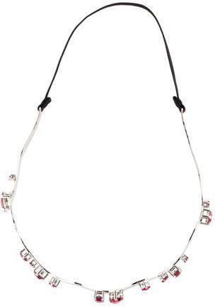 Miu MiuMiu Miu Silver-Tone Jewel-Embellished Headband