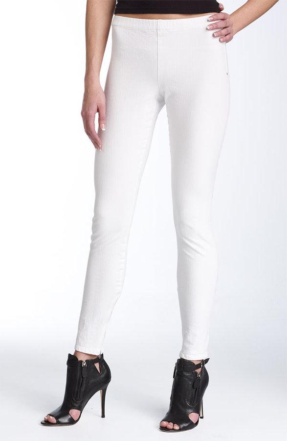 Joe's Jeans Inside Zip Hem Stretch Denim Leggings (White Wash)