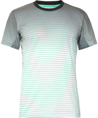 adidas Sport Melbourne Striped Climalite Tennis T-Shirt