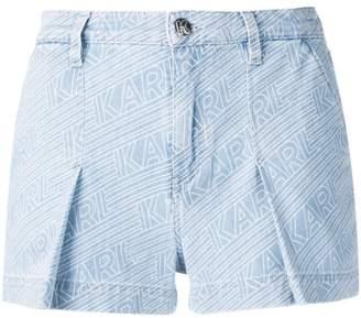Karl Lagerfeld Paris Karlifornia logo denim shorts