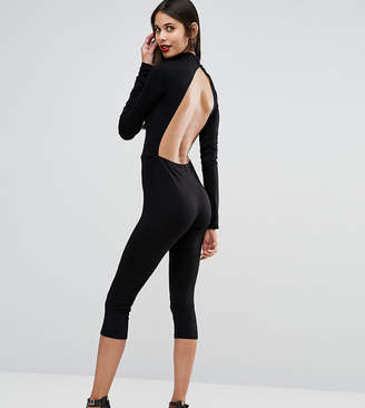 Asos Tall TALL Cropped Jumpsuit With Cut Out Back