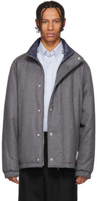 Thom Browne Reversible Grey Down Cashmere Jacket