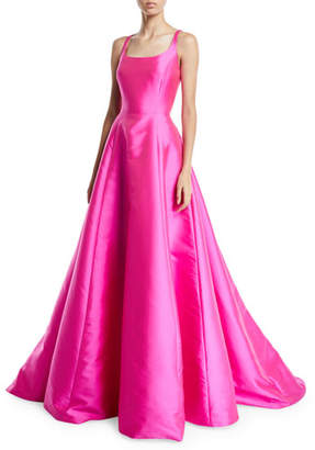 Sachin + Babi Kruse Sleeveless Scoop-Neck Ball Gown