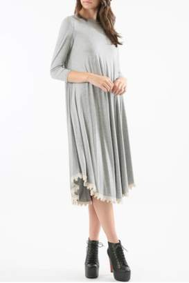 Flamingo Urban Grey Midi Dress