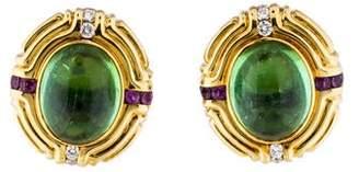 Lagos 18K Diamond, Sapphire & Tourmaline Earrings