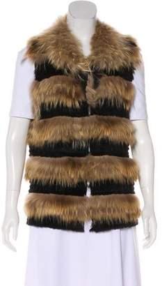 Belle Fare Raccoon Fur Vest