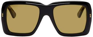 Gucci Black and Yellow Bold Sunglasses