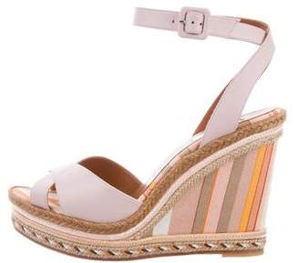 Valentino Native Couture 1975 Espadrille Wedge Sandals