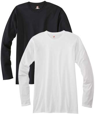 Hanes Men's 2 Pack Long Sleeve Nano T-Shirt