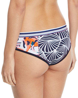 Neiman Marcus Xirena Brinkley Hipster Printed Swim Bikini Bottoms