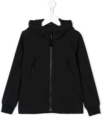 C.P. Company Kids hooded goggle detail jacket