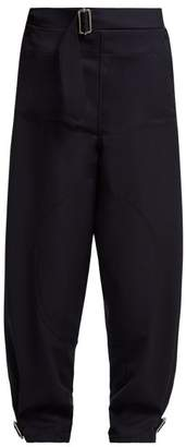 J.W.Anderson Utility Wool Trousers - Womens - Navy