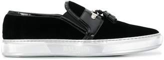 Balmain velvet tassel loafers