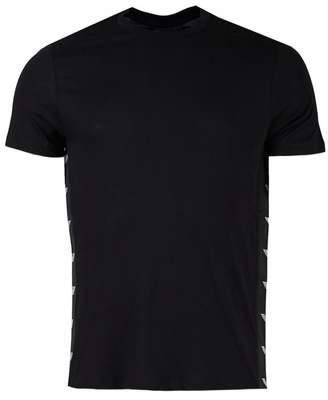 Giorgio Armani Taped Regular Fit Crew Neck T-shirt Colour: BLACK, Size: XXL