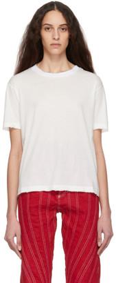 Unravel ホワイト ディストレス ジャージ スケート T シャツ