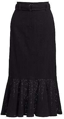 A.L.C. (エーエルシー) - A.L.C. Women's Hinton Lace Eyelet Hem Midi Skirt - Size 0
