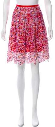 T Tahari Floral Embroidered Skirt w/ Tags