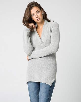 Le Château Boucle Knit V-Neck Sweater