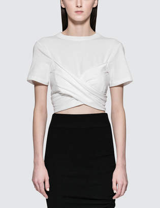 Alexander Wang High Twist Draped Cropped T-shirt