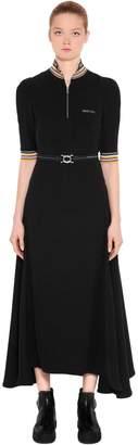 Prada Draped Techno Jersey Dress