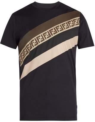 Fendi Ff Print Cotton T Shirt - Mens - Navy