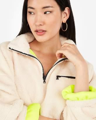 Express One Eleven Cozy Quarter Zip Fleece Sweatshirt