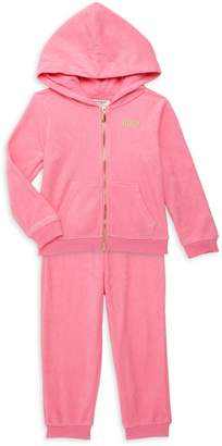 Juicy Couture Girl's 2-Piece Logo Cotton-Blend Hoodie & Jogger Pants Set