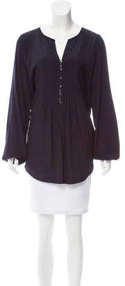 Calypso Long Sleeve Pleated Top