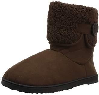 Dearfoams Women's MFS Boot w Notch Sherpa Cuff