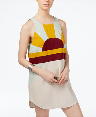 Free People Sundown Silk Shift Dress $148 thestylecure.com