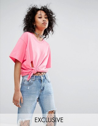 Milk It Vintage Knotted Oversized T-Shirt $29 thestylecure.com