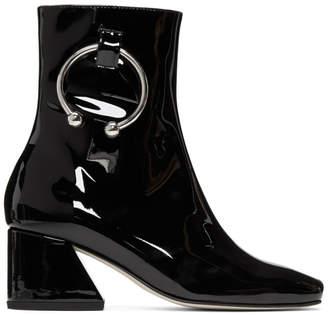 Dorateymur Black Patent Nizip Boots