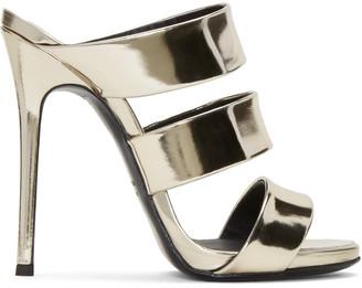 Giuseppe Zanotti Gold Alien Sandals $695 thestylecure.com