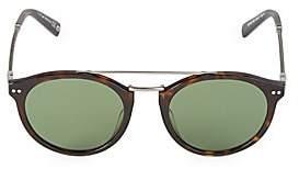 Web Men's Round 50MM Tortoise Sunglasses