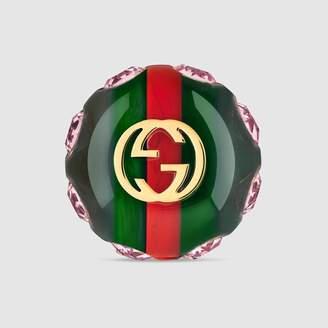 Gucci (グッチ) - ヴィンテージ ウェブ ブローチ
