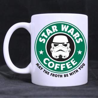 Star Wars Drinkware Mugs Funny Designed COFFEE MAY THE FORTH BE WITH YOU Ceramic Coffee Mug Tea Cup - Personalized Gift For Birthday,Christmas And New Year