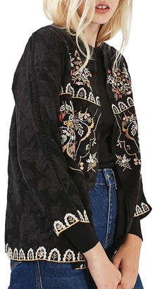 Women's Topshop Embroidered Kimono Jacket $130 thestylecure.com