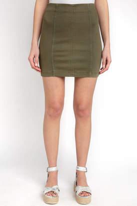 Free People Modern Femme Mini Skirt In Olive